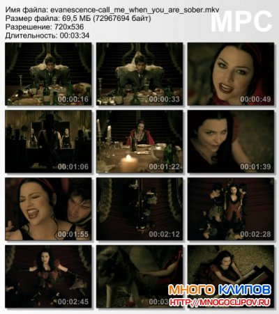 Evanescence - Call me when you are sober